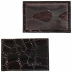 Обложка пропуск/карточка/проездной Croco-В-200 натуральная кожа коричневый скат   (99)
