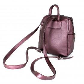 Сумка женская искусственная кожа GR-1616    (рюкзак-мини) ,    1отд,    3внут+3внеш карм,    purple/металлик
