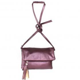 Сумка женская искусственная кожа GR-1554,  2отд,  плечевой ремень,  purple/металлик 214255