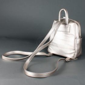Сумка женская искусственная кожа GR-1616    (рюкзак-мини) ,    1отд,    3внут+3внеш карм,    золото