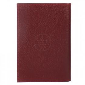 """Обложка для паспорта натуральная кожа """"Baku"""". O.1.BK.бордовый 214363"""