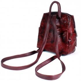Сумка женская искусственная кожа GR-1616    (рюкзак-мини) ,    1отд,    3внут+3внеш карм,    вишня перламутр