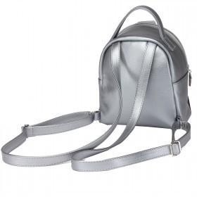 Сумка женская искусственная кожа GR-1612  (рюкзак-мини),  1отд,  2внут+1внеш карм,  тем.серебро 215229