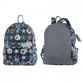 Рюкзак детский TL-РД-03,    прост спинка,    1отд,    1внут+3внеш карм,    звезды серые
