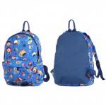 Рюкзак детский TL-РД-03,    прост спинка,    1отд,    1внут+3внеш карм,    совы на синем