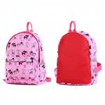 Рюкзак детский TL-РД-03,    прост спинка,    1отд,    1внут+3внеш карм,    кошки на розовом