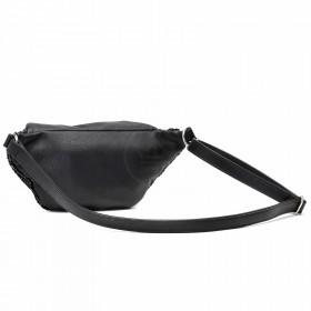 Сумка женская иск/кожа+текстиль ADEL-146 (поясная),  1отд,  ремень/пояс,  черный sequins 215575