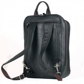 Сумка мужская натуральная кожа MT-581-3   (рюкзак-сумка) ,    2отд,    2внут+3внеш карм,    коричневый буфало   (4334)