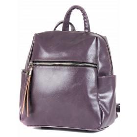 Сумка женская искусственная кожа GR-1616    (рюкзак-мини) ,    1отд,    3внут+3внеш карм,    фиолет наплак