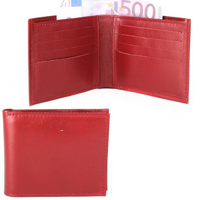 Портмоне женское Croco-ПР-900 натуральная кожа 1 отд,  10 карм,  красный фантазия (223)  215953