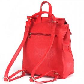 Сумка женская искусственная кожа ADEL-83/ЗФ/ММ   (рюкзак) ,    1отд+еврокарман,    красный