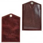 Обложка пропуск/карточка/проездной Premier-V-42 натуральная кожа коричневый тем пулл-ап   (152)