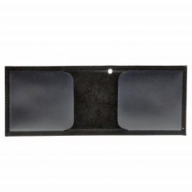 Обложка Croco-у-600 (для удостоверения)  натуральная кожа черный флотер (40)  216359
