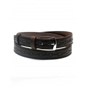 Ремень 30 мм BLACK TORTOISE взрослый 0100022,  тиснение,  коричневый 216397