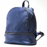 Сумка женская искусственная кожа GR-1577    (рюкзак) ,    2отд,    2внут+1внеш карм,    синий/металлик