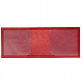 Обложка Croco-у-601 (для студ.билета)  натуральная кожа алый шик (10)  216617