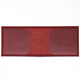 Обложка Croco-у-601 (для студ.билета)  натуральная кожа красный орфей (222)  216619