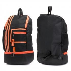 Рюкзак муж Арлион-389,    уплотн.спинка,    2отд,    2внеш карм,    черный/оранж