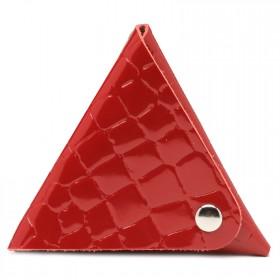 Футляр для монет Premier-F-63 натуральная кожа красный камушки   (105)