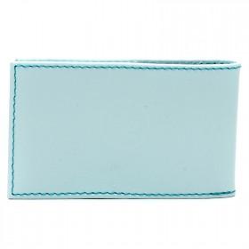 Визитница PRT-ФВ-1 (18 листов)  натуральная кожа голубой ария ривьера  216893
