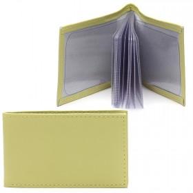 Визитница PRT-ФВ-1 (18 листов)  натуральная кожа лимон орфей  216899