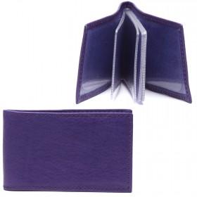 Визитница PRT-ФВ-1 (18 листов)  натуральная кожа фиолетовый тайлер  216903
