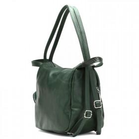 Сумка женская искусственная кожа GR-1699    (рюкзак) ,    1отд+еврокарман,    2внеш карм,    зеленый пулл-ап/змея