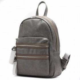 Сумка женская искусственная кожа GR-1651    (рюкзак) ,    1отд,    2внут+2внеш карм,    серый