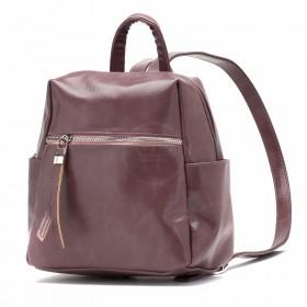 Сумка женская искусственная кожа GR-1616    (рюкзак-мини) ,    1отд,    3внут+3внеш карм,    роза масло