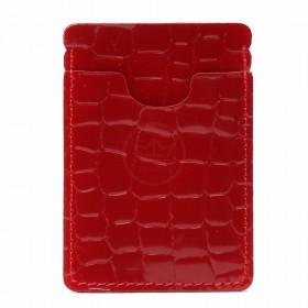 Визитница-футляр Premier-V-49 натуральная кожа красный камушки (105)  217030