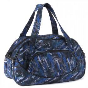Сумка дорожная Дизайн-Лана,    1отд,    плечевой ремень,    3внеш карм,    темно-синий    (абстракция)