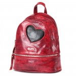 Сумка женская искусственная кожа GR-1610    (рюкзак) ,    2отд,    3внут+1внеш карм,    рубин