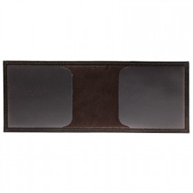 Обложка Croco-у-601 (для студ.билета)  натуральная кожа коричневый флотер (116)  217487
