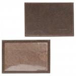 Обложка пропуск/карточка/проездной Premier-V-41 натуральная кожа коричнево-серый сафьян   (555)