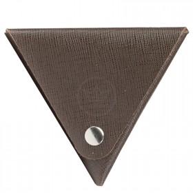Футляр для монет Premier-F-63 натуральная кожа коричнево-серый сафьян   (555)