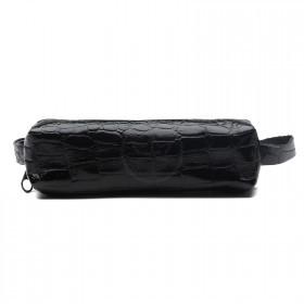 Футляр для ключей-FNX-КЛБ-100 натуральная кожа черный крокодил   (261)