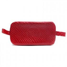 Футляр для ключей-FNX-КЛВ-104 натуральная кожа красный питон (4356)  218236