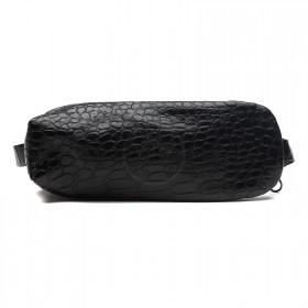 Футляр для ключей-FNX-КЛК-103 натуральная кожа черный крокодил   (261)
