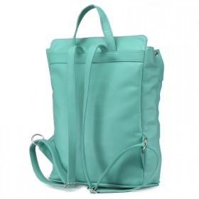 Сумка женская искусственная кожа GR-1318    (рюкзак) ,    1отд,    2внут+1внеш карм,    мята