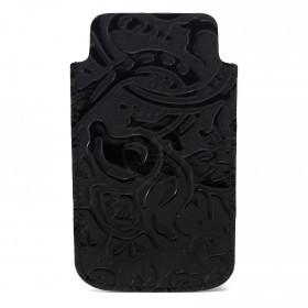 Футляр для мобильного телефона F-4,    черный пион   (129)