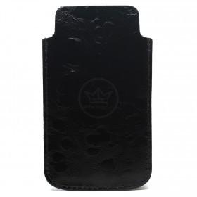 Футляр для мобильного телефона F-4-03 Цветы  черный вестленд   (125)   /серебро