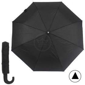 Зонт муж RST-3319B,    R=54см,    полуавт;    8 спиц-сталь+fiber,    3слож,    полиэстер,    черный
