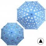 Зонт детский RST-0052,    R=48см,    полуавт;    8спиц-сталь;    трость;    меняет цвет под дождем,    полиэстер,    синий    (Монстрики)