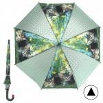 Зонт детский RST-072-3D,    R=48см,    полуавт;    8спиц-сталь;    трость;    полиэтилен,    зеленый    (Котята)