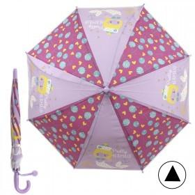 Зонт детский RST-086,    R=48см,    полуавт;    8спиц-сталь;    трость;    полиэтилен,    фуксия/сиреневый    (Русалочка)