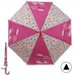Зонт детский RST-086,    R=48см,    полуавт;    8спиц-сталь;    трость;    полиэтилен,    розовый/бежевый    (Русалочка)
