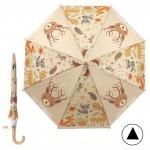 Зонт детский RST-083,    R=48см,    полуавт;    8спиц-сталь;    трость;    полиэтилен,    бежевый    (Животные)
