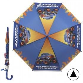 Зонт детский RST-045,    R=48см,    полуавт;    8спиц-сталь;    трость;    полиэтилен,    синий    (Джип)