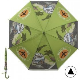 Зонт детский RST-045,    R=48см,    полуавт;    8спиц-сталь;    трость;    полиэтилен,    зеленый    (Пилот истребителя)