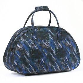 Сумка дорожная Дизайн-Вояж,    1отд,    1внутр. карм,    черный/синий    (абстракция)